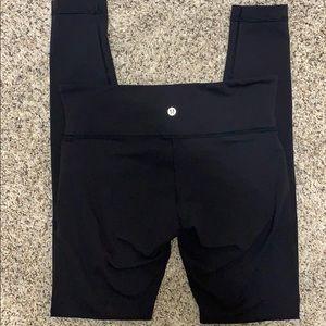 Lululemon full length black leggings size 8